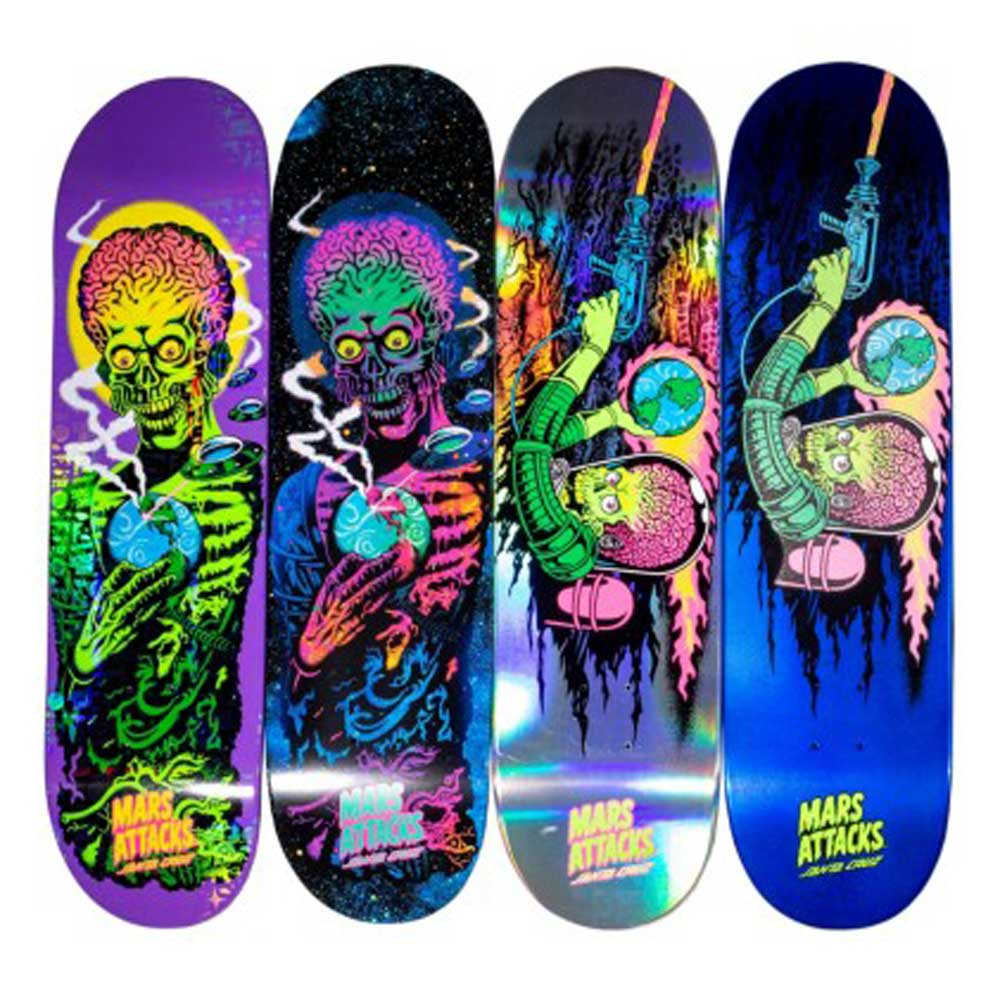 Tavola santa cruz collabo mars attacks limited edition - Tavole da snowboard santa cruz ...