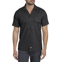 dickies_short_sleeve_slim_work_shirt_black_1