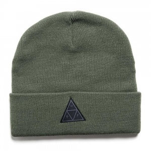 huf_triple_triangle_beanie_deep_olive_1