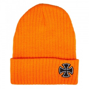 independent_beanie_cross_ribbed_orange